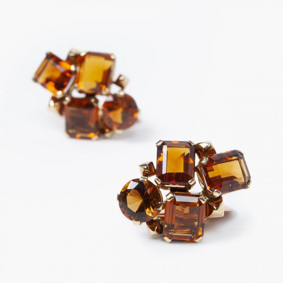 Suzanne Belperron citrine cluster clip earrings 1956