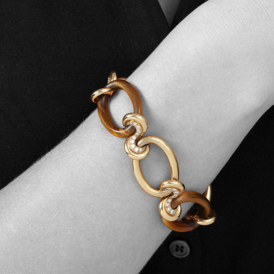 Cartier tiger's eye bracelet by Georges Lenfant, Paris, ca 1960