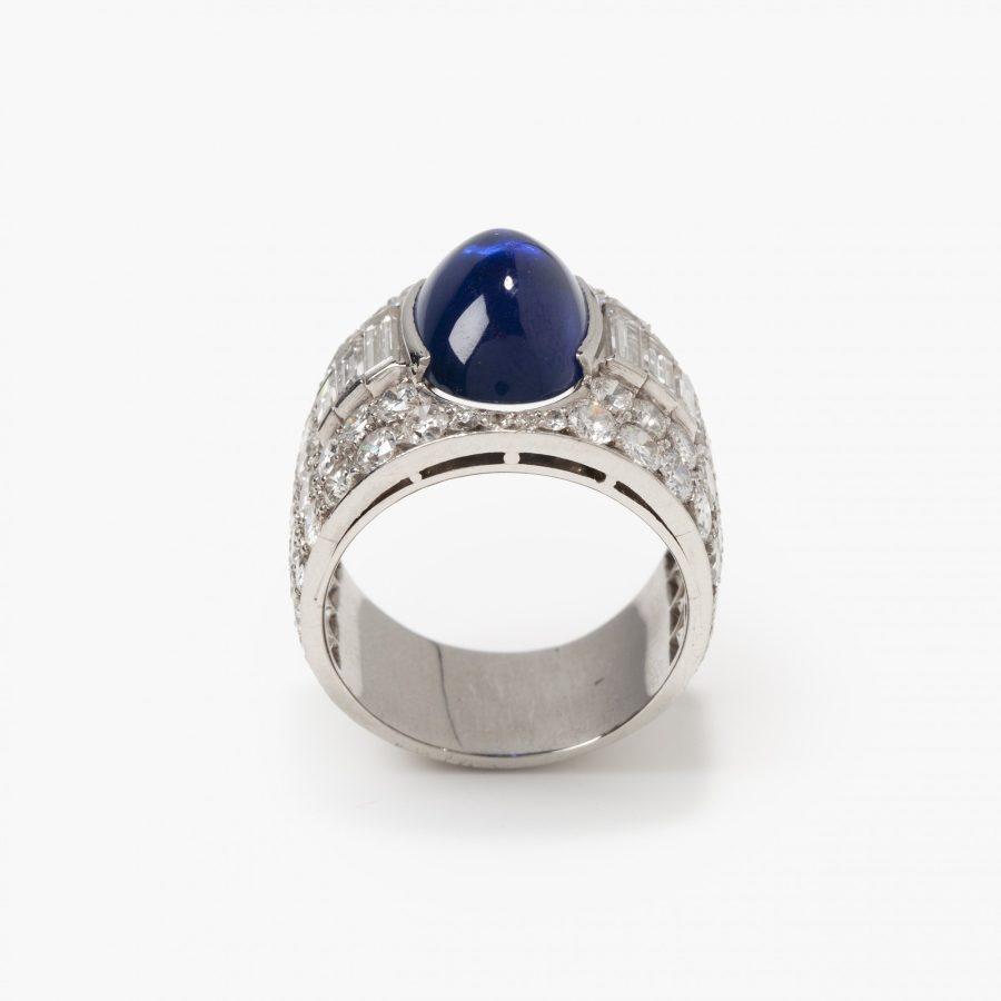 Bvlgari Trombino ring diamond sapphire ca 1950