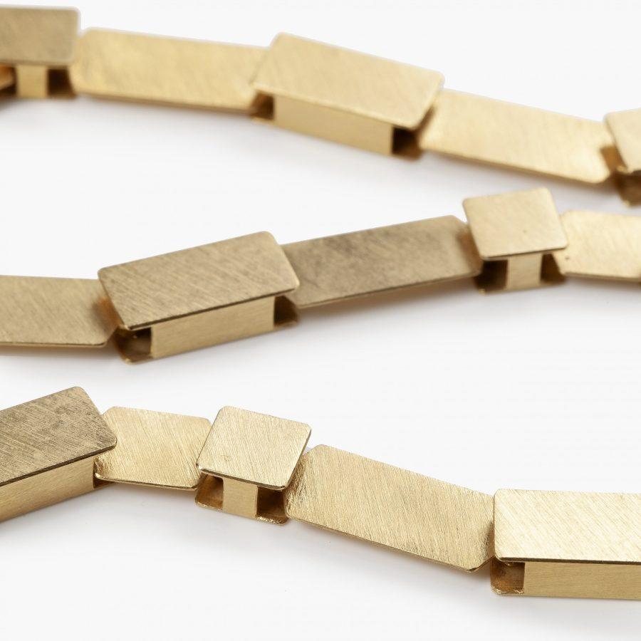 Michael Becker yellow gold satiné necklace modern