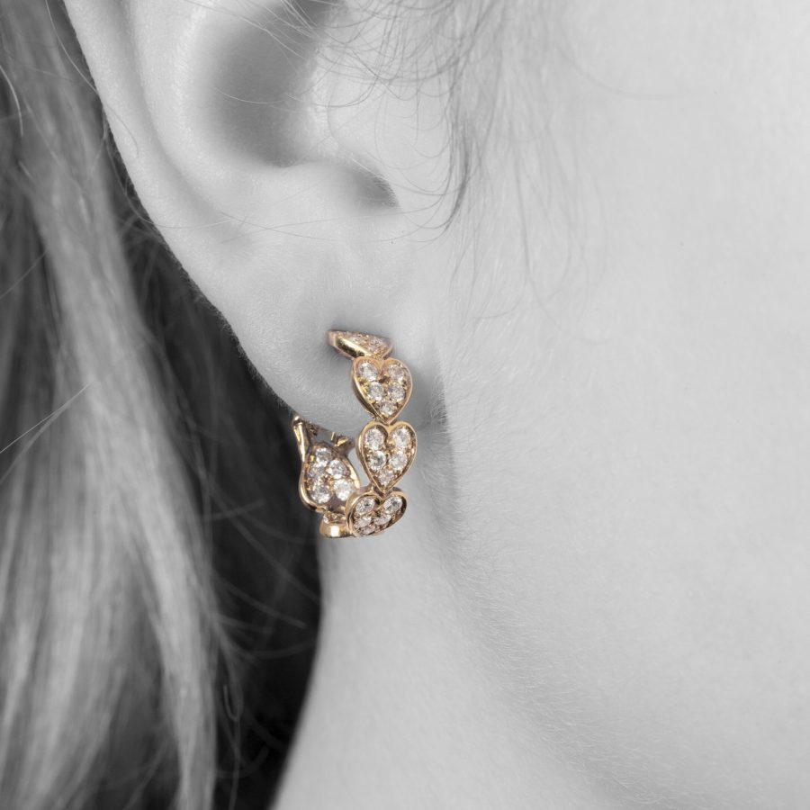 Cartier Virgo diamond earrings