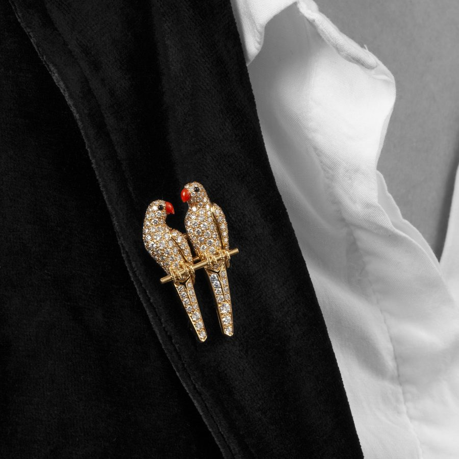 Cartier love birds brooch Paris
