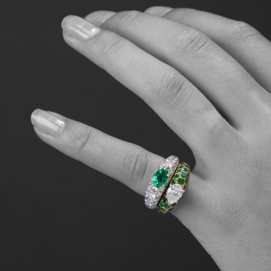 Cartier toi et moi ring diamond emerald Paris 1950s