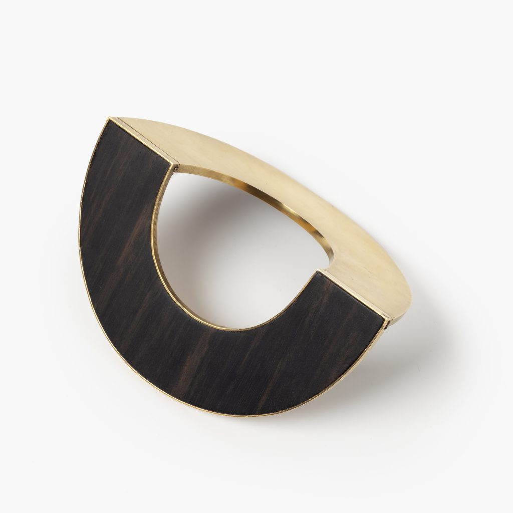 Giampaolo Babetto gold and wood design bracelet made in 1977