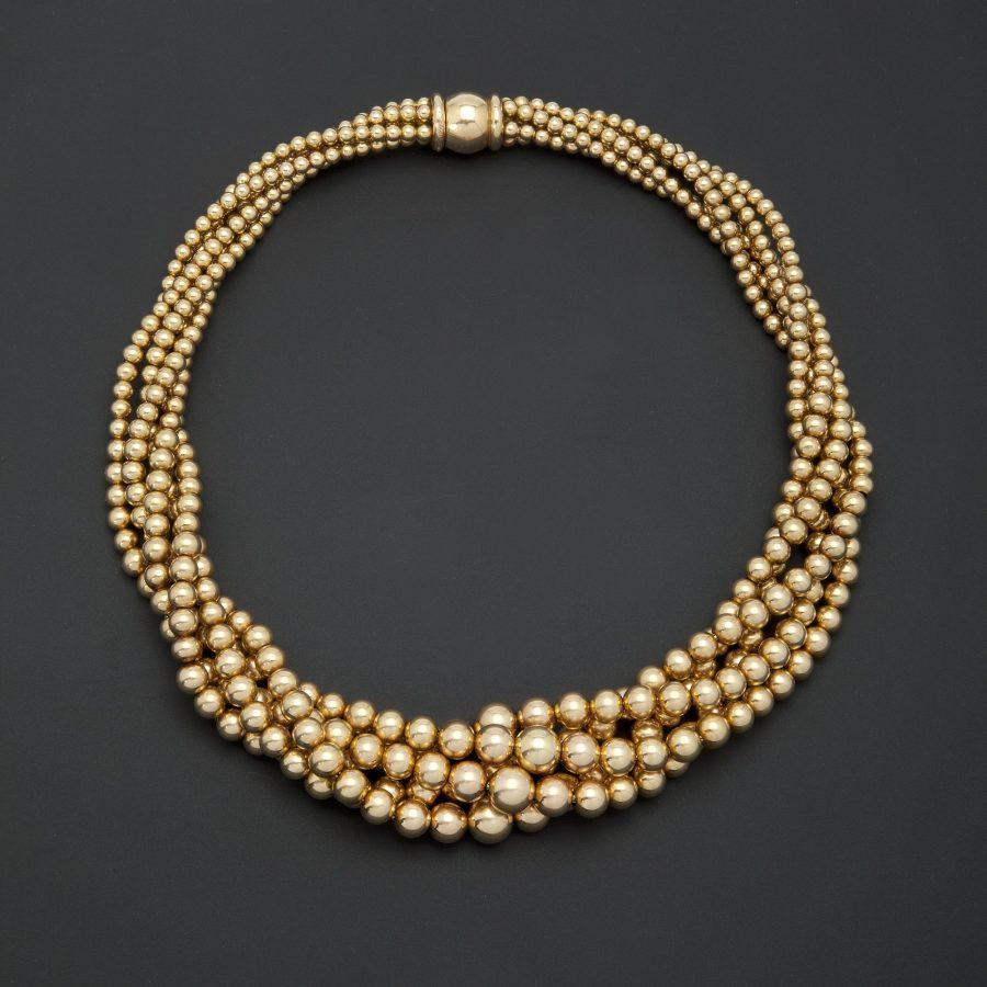 Cartier twist gold necklace Paris ca 1950