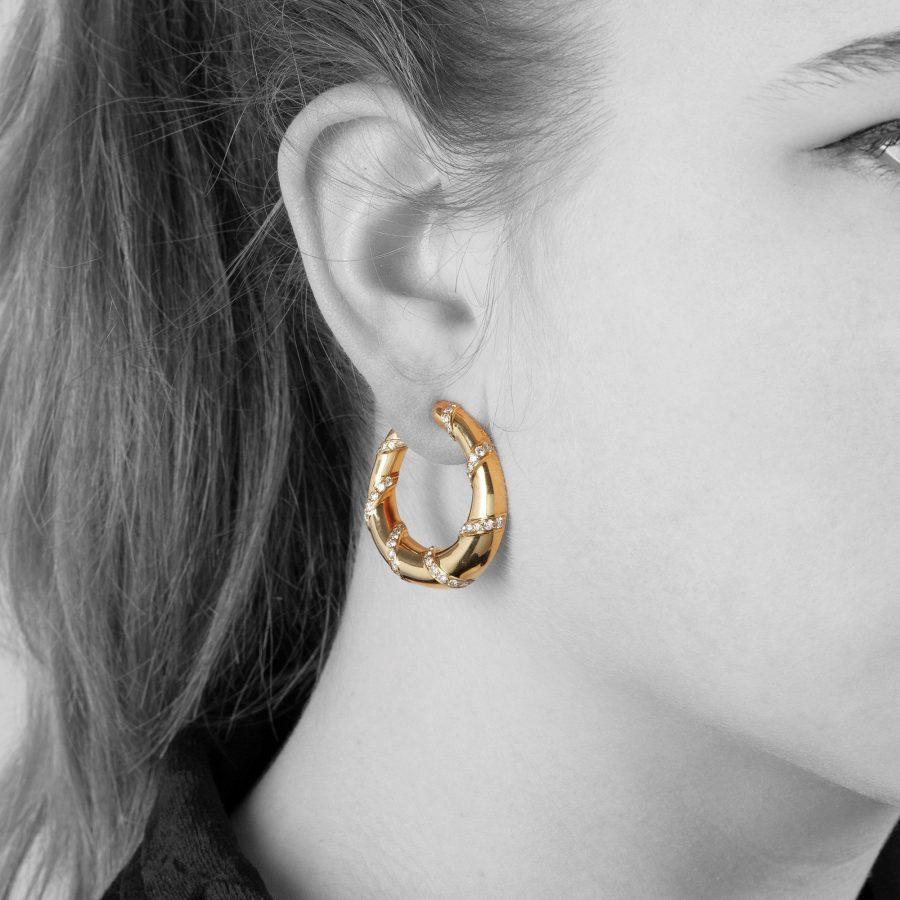Cartier Paris hoop earrings 1973
