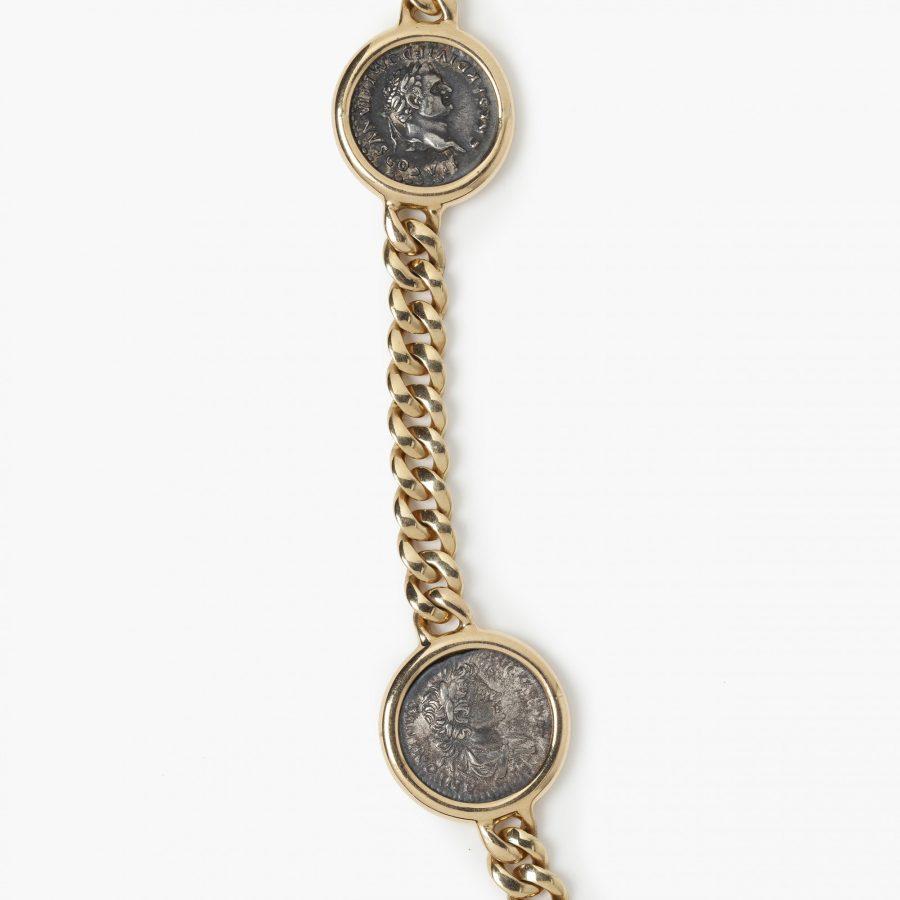 Bvlgari Monete antique silver coin necklace Bulgari Italy