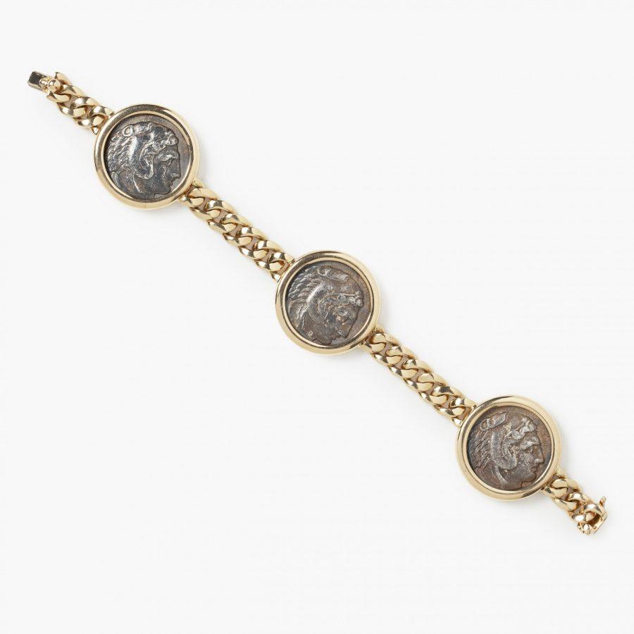 Bvlgari Monete antique silver coin bracelet Bulgari Italy
