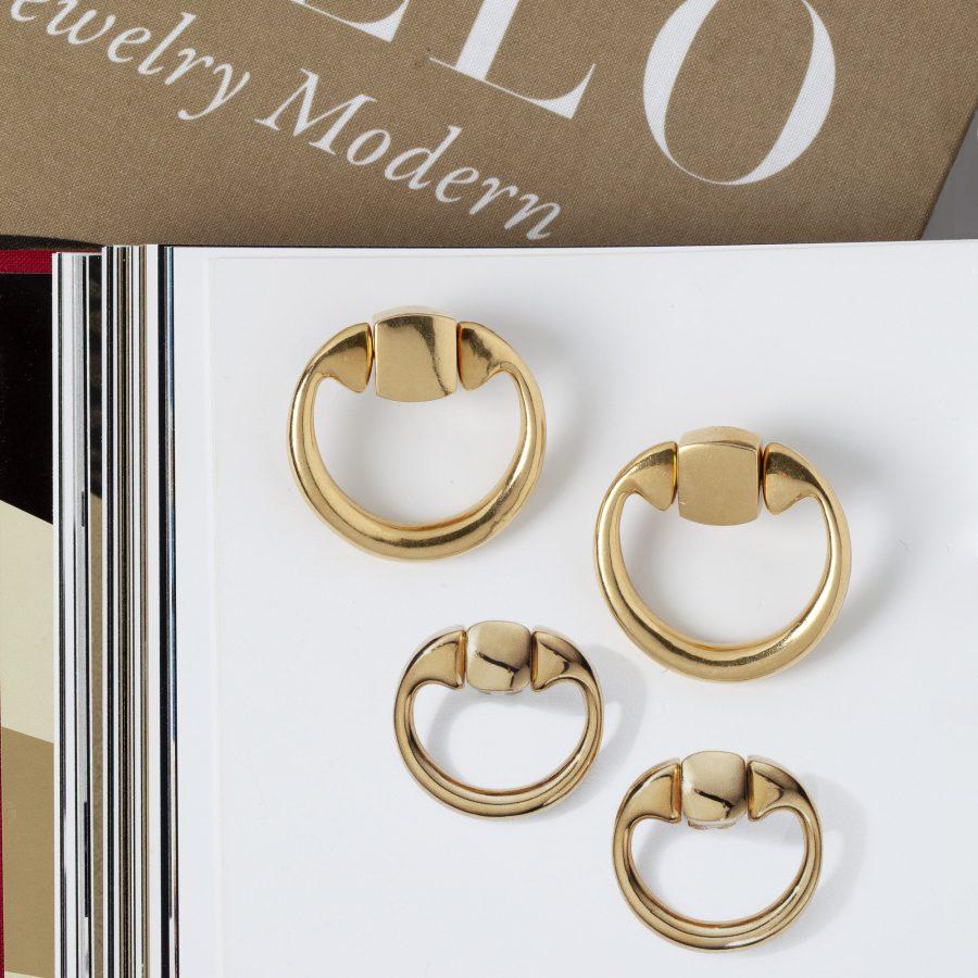 Aldo Cipullo for Cartier New York doorknocker earrings 1971