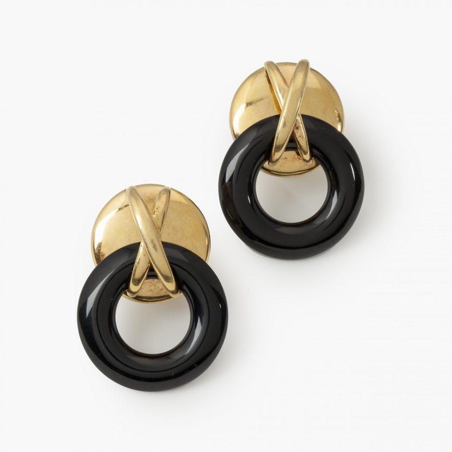 Aldo Cipullo for Cartier New York onyx ring earrings dated 1972