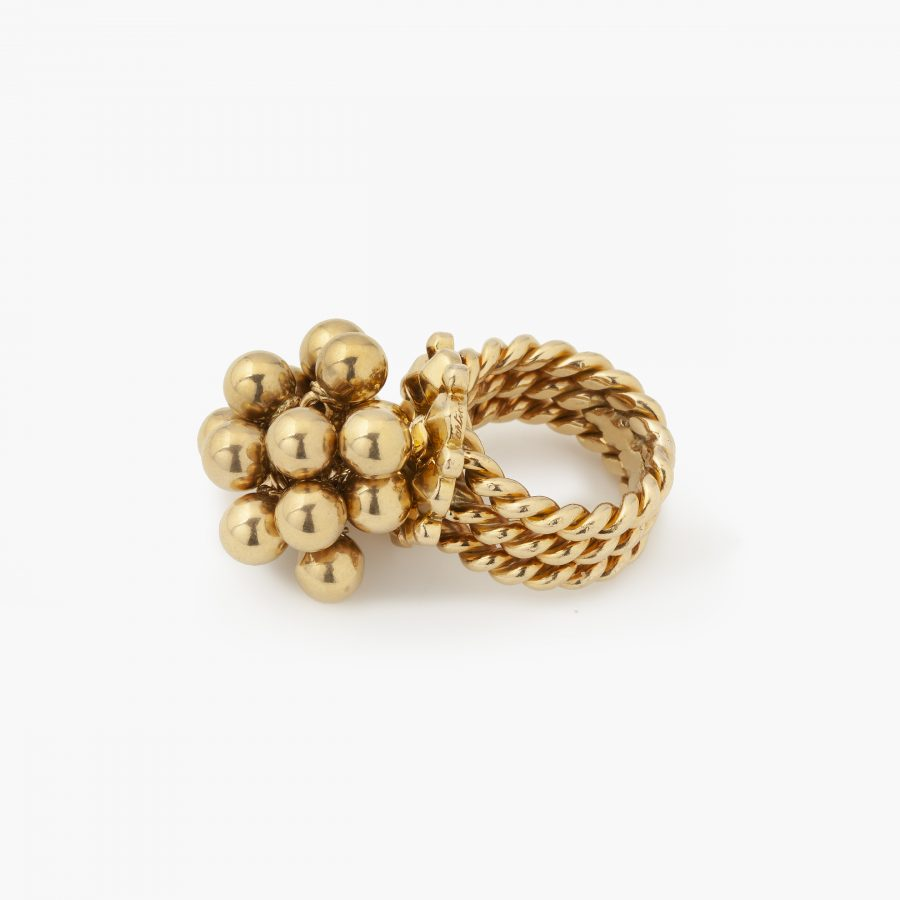 Cartier Paris ring with spheres ca 1950