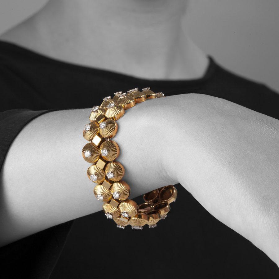 Cartier diamond set bracelet made in Paris ca 1950s
